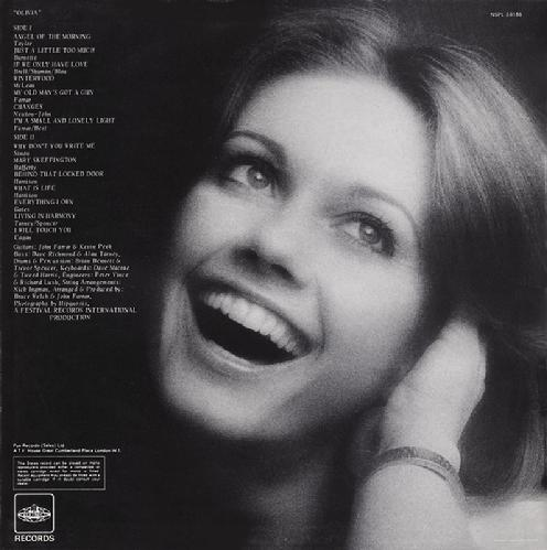 Olivia Olivia Newton John Let Me Be There Albums 1972 73