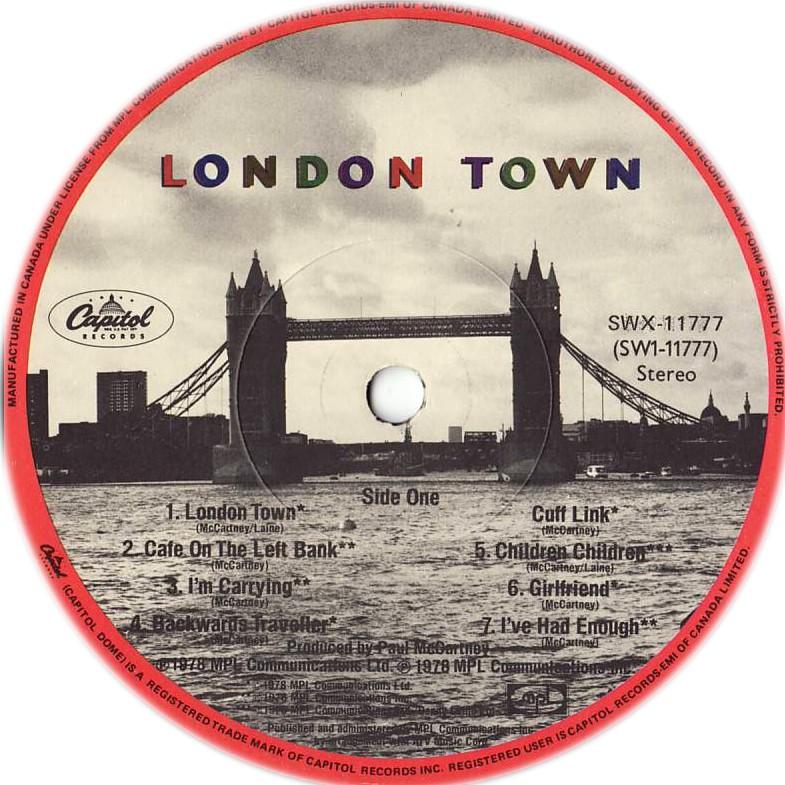 London Town - album 1978