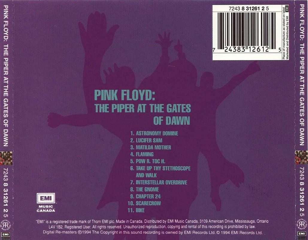 6ce51888 The Piper At The Gates Of Dawn-remaster - album 1994/1997/2007